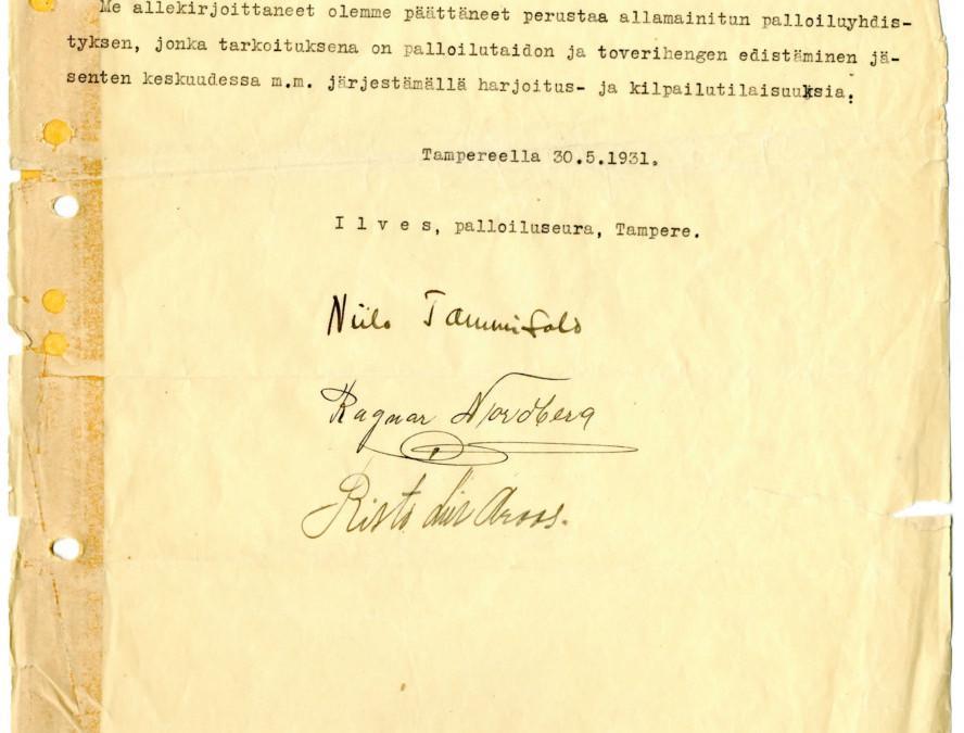 Ilveksen arkistot järjestetty Urheilumuseossa – pala suomalaista urheiluhistoriaa